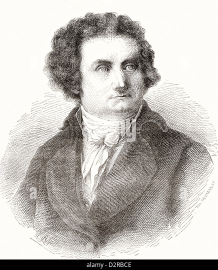 August Wilhelm Iffland, 1759 ? 1814. German actor and dramatic author. - Stock-Bilder