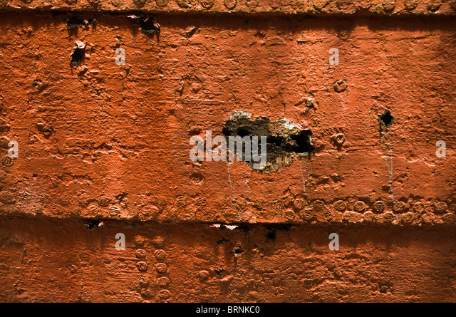 dh SS Great Britain BRISTOL DOCKS BRISTOL SS Great Britain ships hull corroded rusty metal riveted hull plates - Stock Image
