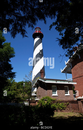 The Lighthouse at St Augustine in florida - America's most haunted - Stock Image