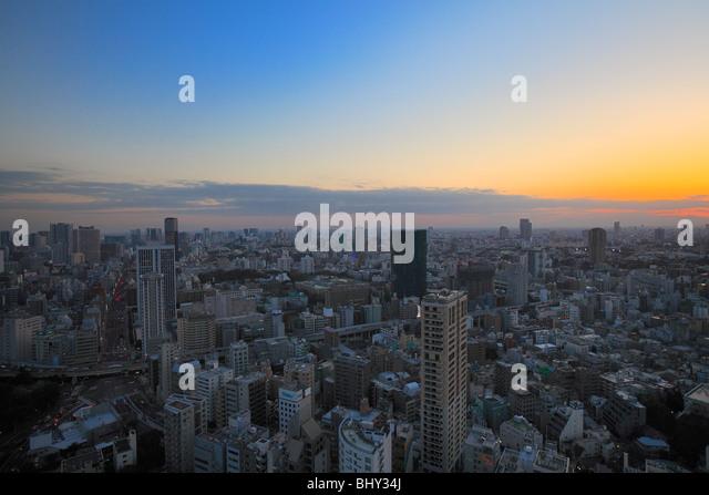Cityscape, Minato, Tokyo, Japan - Stock Image