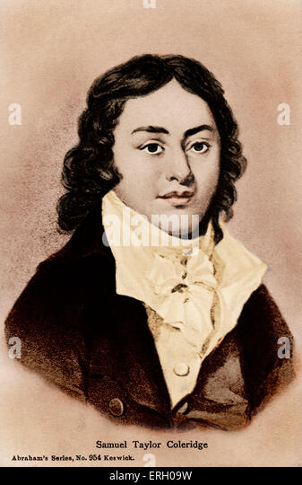 Samuel Taylor Coleridge, engraving. English poet  1772-1834 - Stock-Bilder