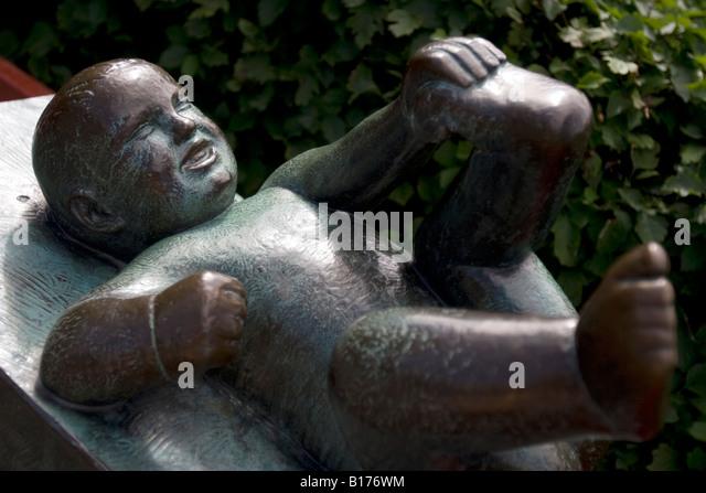 Sculpture created by Gustav Vigeland in Frogner Park, Oslo. - Stock Image