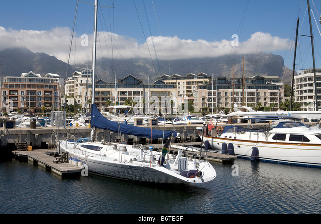 Cape Town waterfront harbour - Stock Image