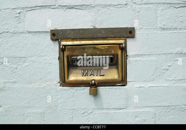 Mail slot - Stock Image