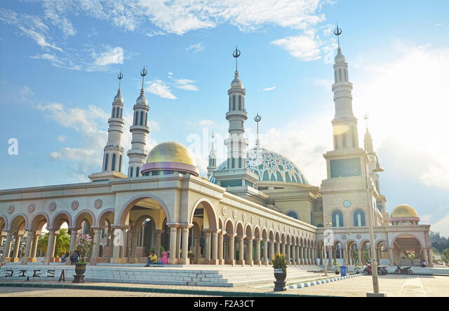 Baitul Mutaqqin Mosque in Samarinda capital city - Stock Image