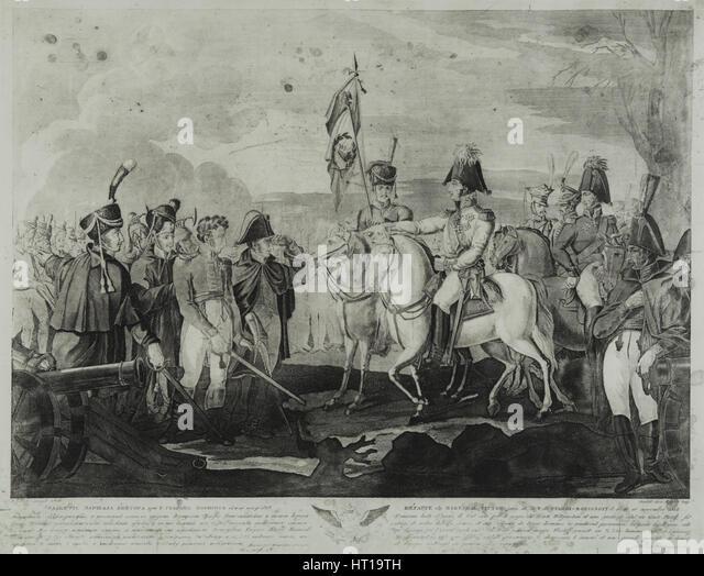 The Defeat of Marshal Victor near Borisov in November 1812, 1814. Artist: Cardelli, Salvatore (active 1800s) - Stock-Bilder