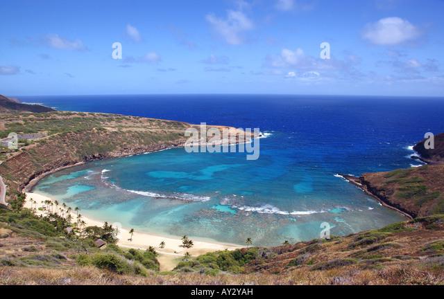 hanauma bay ,oahu - Stock Image