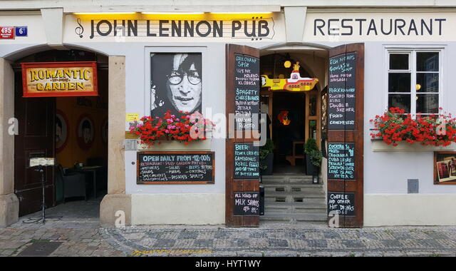 John Lennon pub and restaurant - Stock Image