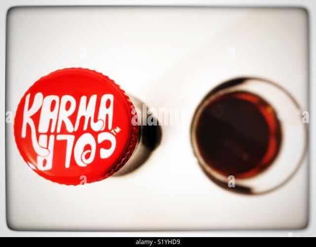 Karma Cola - Stock Image