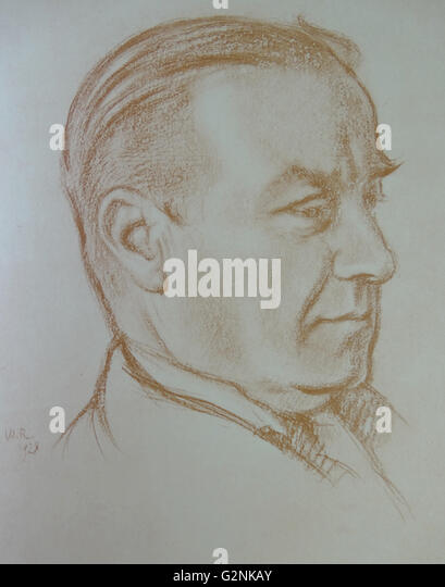 Portrait of The Right Honourable Stanley Baldwin - Stock Image