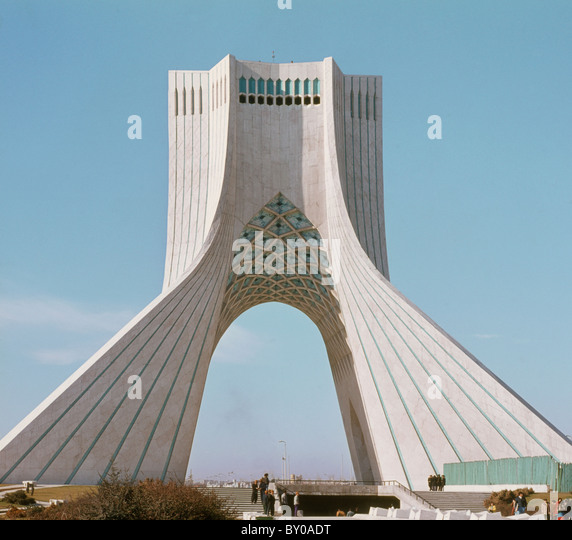 Iran Teheran Azadi tower, taken in 1973, when it was the Shahyad tower - Stock Image