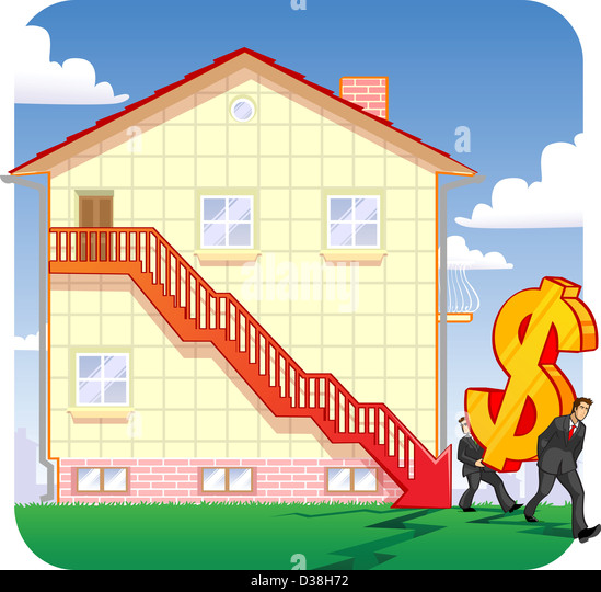 Downfall in real estate prices - Stock Image