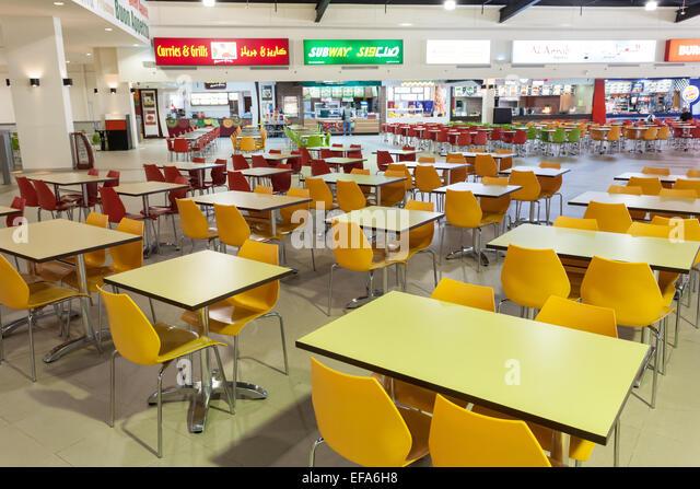 Food Court Near The Hudson River New York