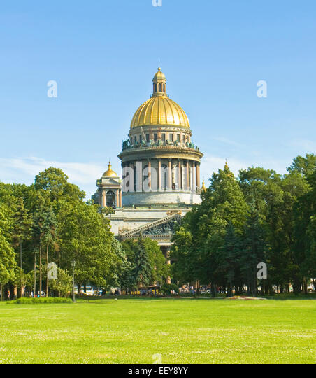 St. Petersburg, Russia - July 03, 2012: cathedral of St. Isaac - Stock Image