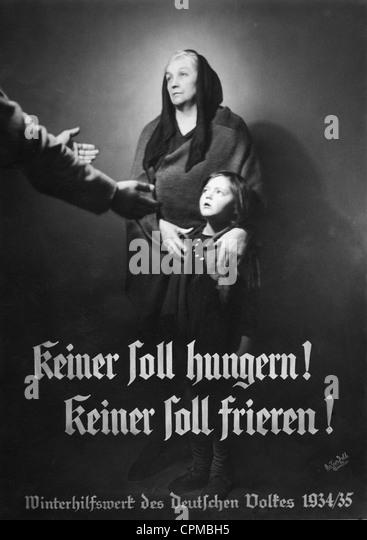 Poster for the 'Winterhilfswerk' - Stock Image