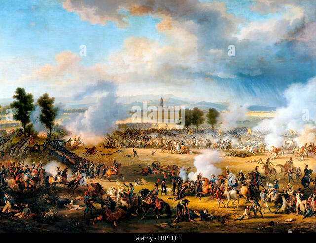 The Battle of Marengo was fought on 14 June 1800 between French forces under Napoleon Bonaparte and Austrian forces - Stock Image