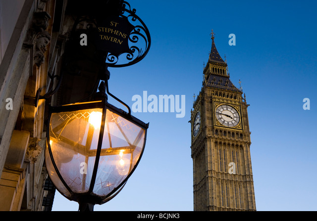 Big Ben, Houses of Parliamant, London, England - Stock Image