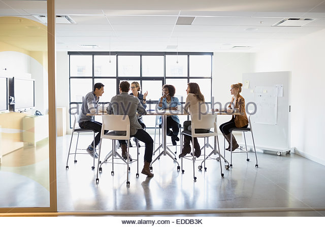 Business people meeting in conference room - Stock-Bilder