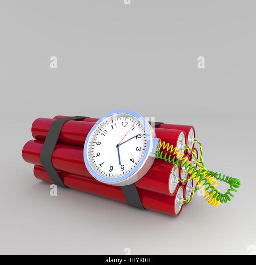 danger, clock, date, time, time indication, watch, bomb, explosion, burst, - Stock Image
