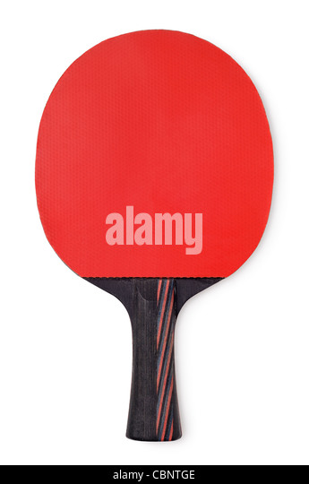 Table Tennis Bat, Cut Out. - Stock Image