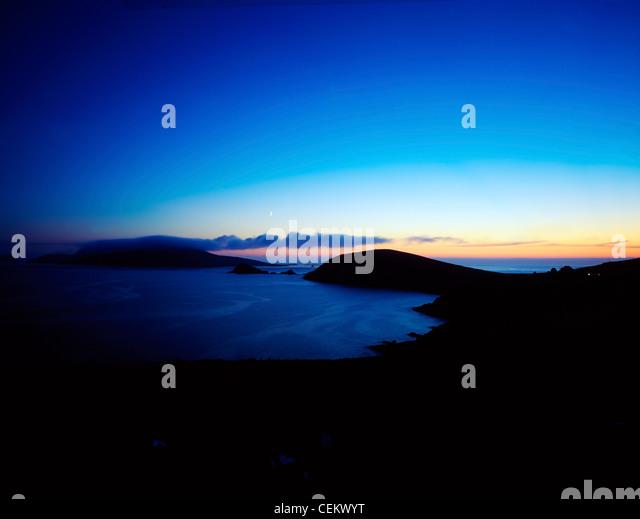 Sunset, Dunmore Head, Blasket Islands, Ireland - Stock Image