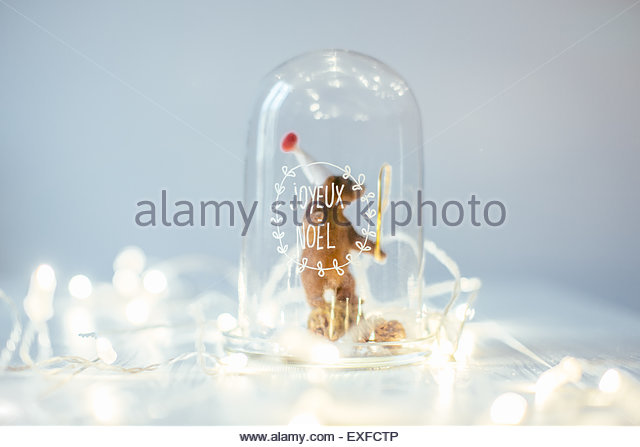 Christmas decoration and lights - Stock Image