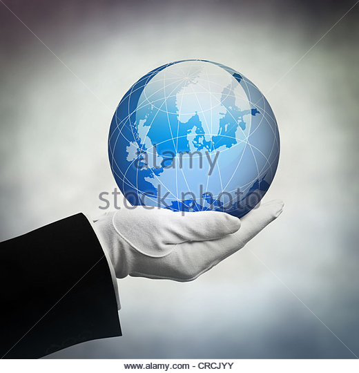 europe in hand - Stock Image