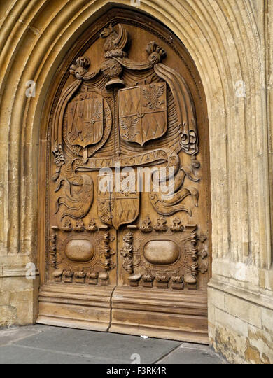 The West Door of Bath Abbey - Stock Image
