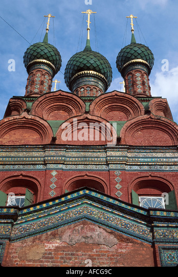 Russia former Soviet Union Yaroslavl Church of Epiphany - Stock Image