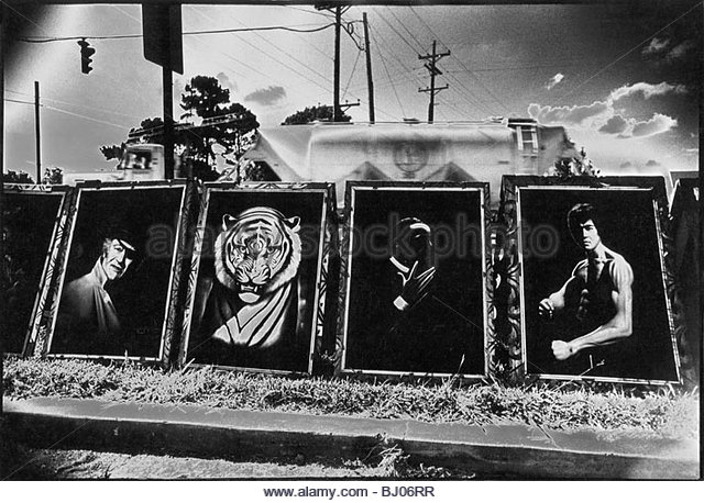 Paintings by the Highway, Louisiana, USA - Stock-Bilder