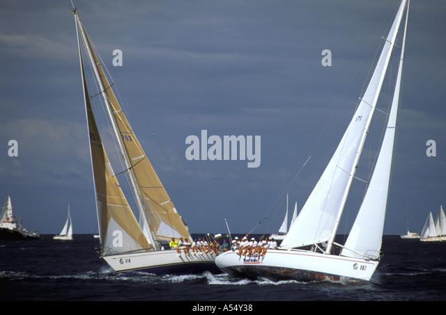 St Maarten Netherlands Antilles Caribbean Heineken Regatta Caribbean Sailing - Stock Image