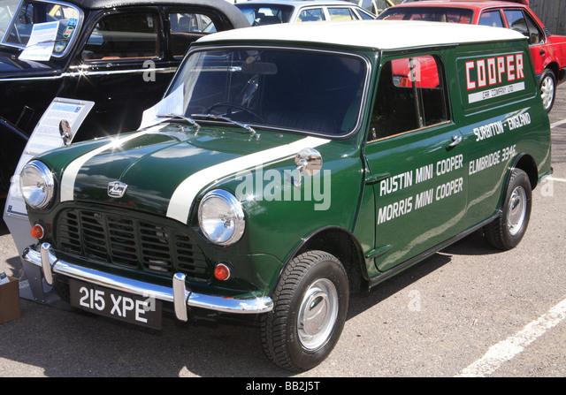 BMC Mini Cooper work van - Stock Image