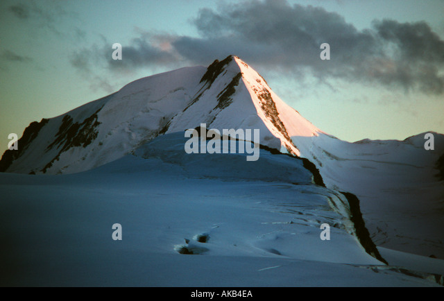 The Weisskugel at dawn, Ötztal Alps, Austria - Stock Image