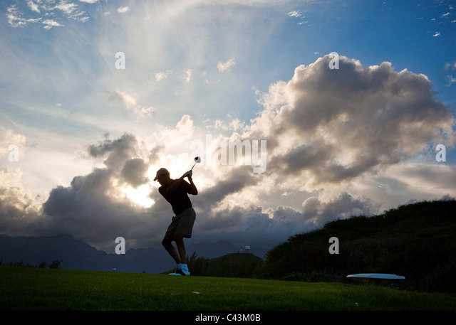 President Barack Obama plays golf at the Kaneohe Klipper Marine Golf Course in Oahu, Hawaii, Dec. 26, 2010. ( - Stock Image