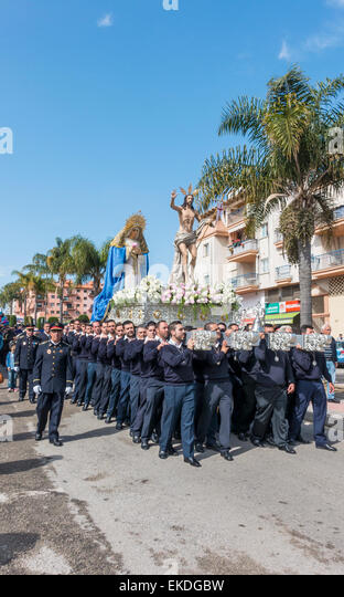 Easter Parade Estepona Spain - Stock Image