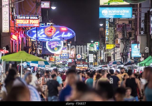 Khao San Road, Bangkok, Thailand - Stock Image