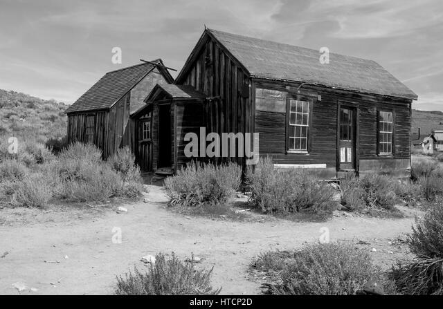 The Bodie State Park is the remains of Bodie, a silver and copper mining town in the eastern California desert. - Stock Image