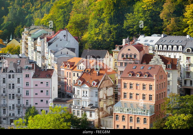 Karlovy Vary, Czech Republic - Stock-Bilder