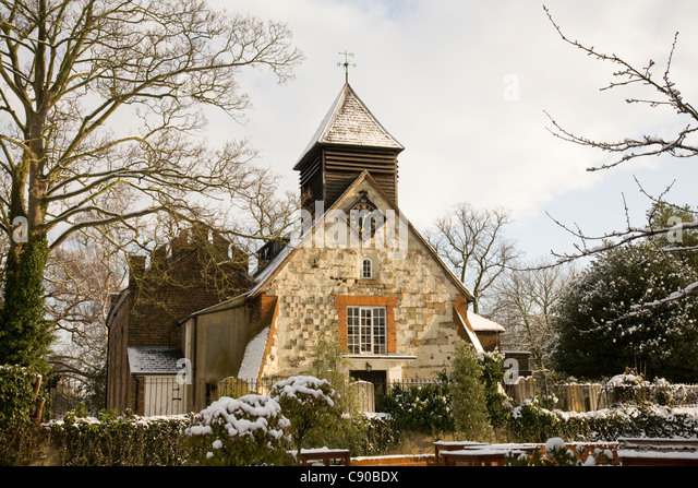 st george's church Esher, Surrey,England , esher's oldest building - Stock Image