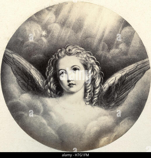 Angel, print - Stock Image