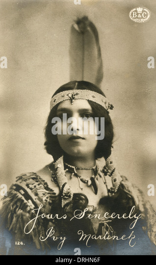 Ivy Martinek - Silent Movie Star - Stock Image