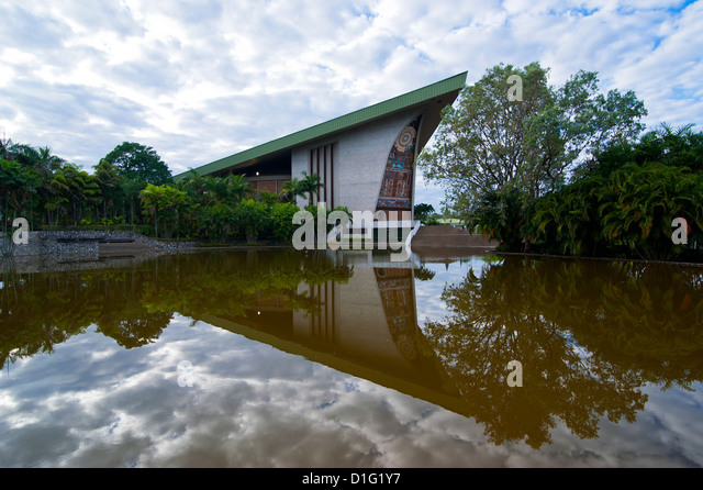 Parliament House in Port Moresby, Papua New Guinea, Pacific - Stock Image