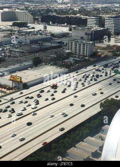 LOS ANGELES FREEWAY  Photo : Tony Gale - Stock-Bilder