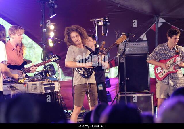 Henham Park, Southwold, Suffolk, UK. 17th July, 2015. The Australian band King Gizzard and the Lizard Wizard play - Stock Image