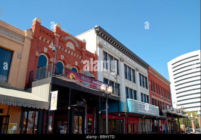 Crockett Street Entertainment District in Beaumont, Texas, USA - Stock Image