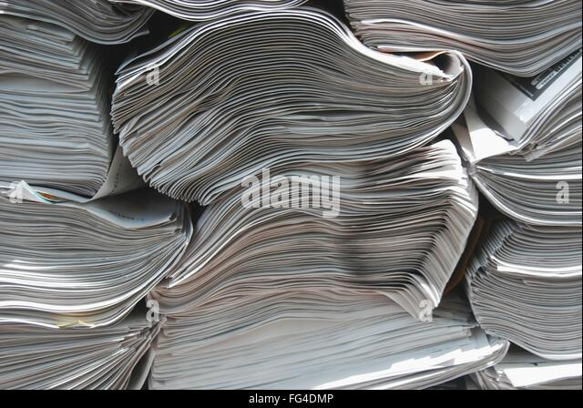 Full Frame Shot Of Newspapers - Stock Image