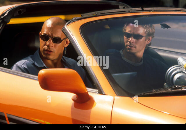 THE FAST AND THE FURIOUS / USA 2001 / Rob Cohen Szene mit Dominic Toretto (VIN DIESEL) und Brian O'Conner (PAUL - Stock Image
