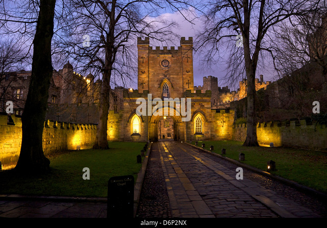 Gatehouse, Durham Castle, University College, Durham, England, United Kingdom, Europe - Stock Image