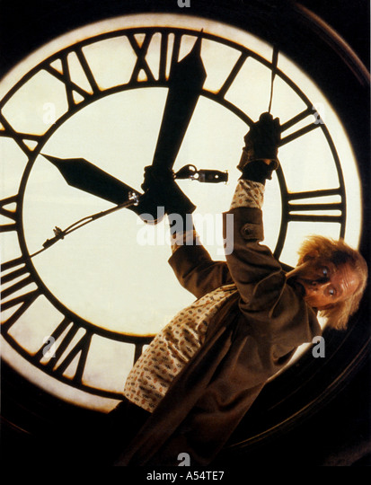 BACK TO THE FUTURE 1985 film Christopher LLoyd - Stock Image