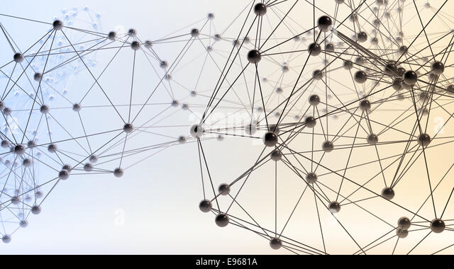Abstract 3D networks - communication and internet concept - Stock Image